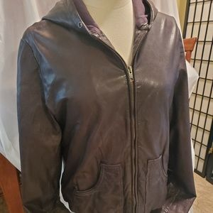 100% Geniun Leather Jacket by Lucky Brand in brown
